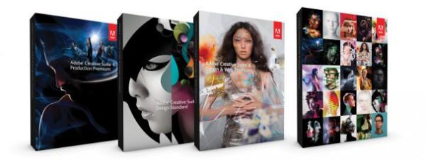 Caixas das Adobe Creative Suites 6