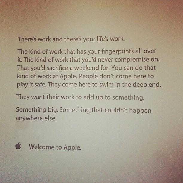 Carta de boas-vindas da Apple