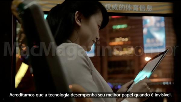 Vídeo promocional legendado do novo iPad