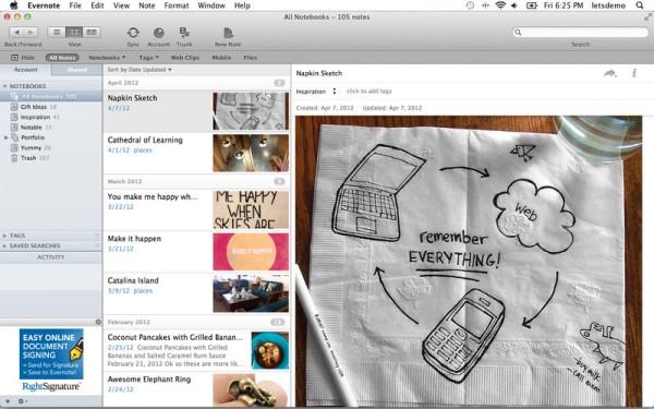 Evernote para Mac