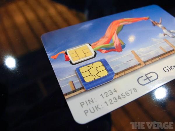 Cartão Nano-SIM proposto pela Apple