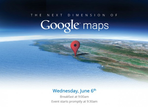 Convite do Google Maps