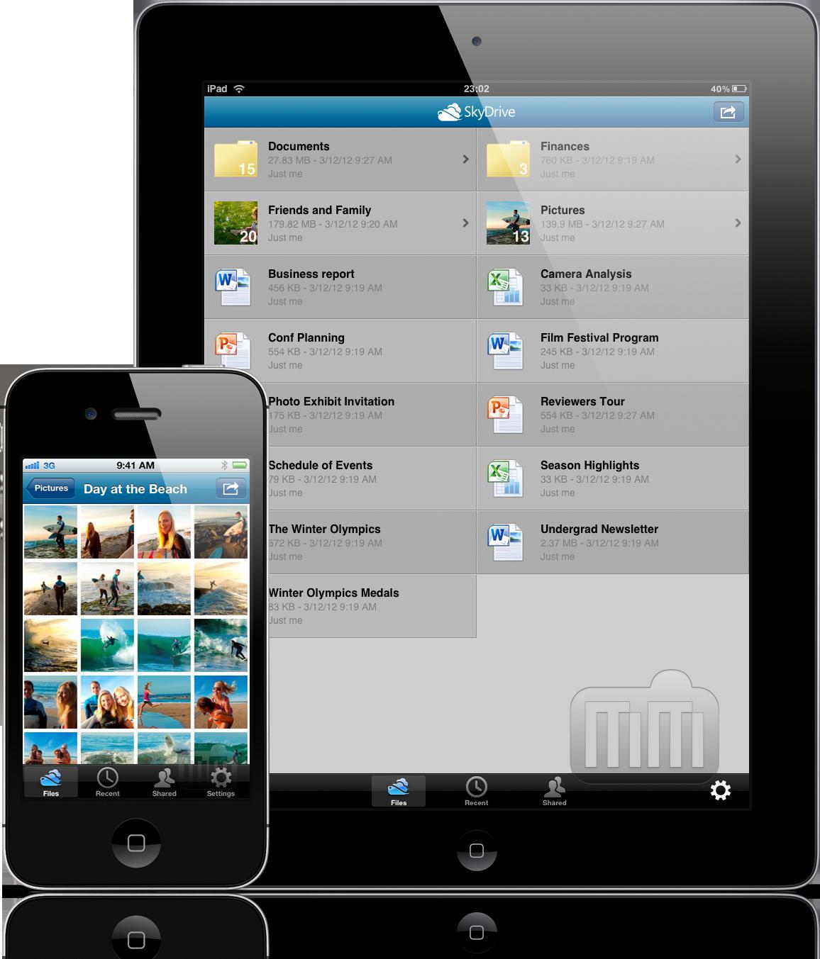 Microsoft SkyDrive - iPhone e iPad