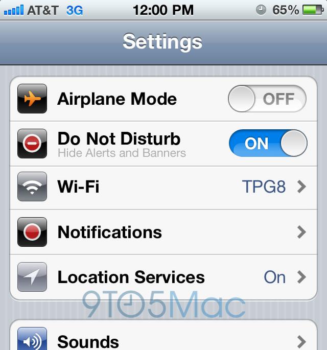 Do Not Disturb no iOS 6