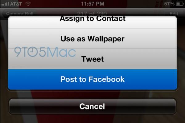 Mockup do Facebook no iOS 6
