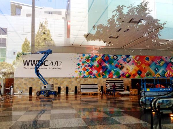 Banner da WWDC 2012 no Moscone Center