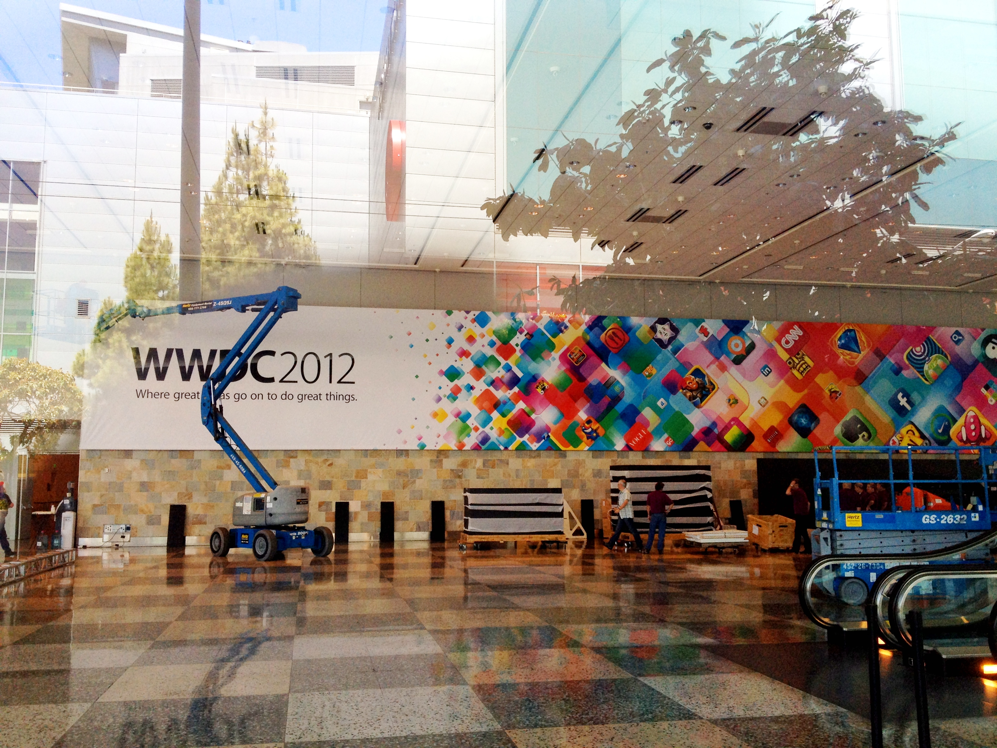 Banner da WWDC 2012 no Moscone Center