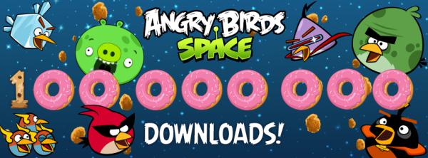100 milhões de downloads de Angry Birds Space