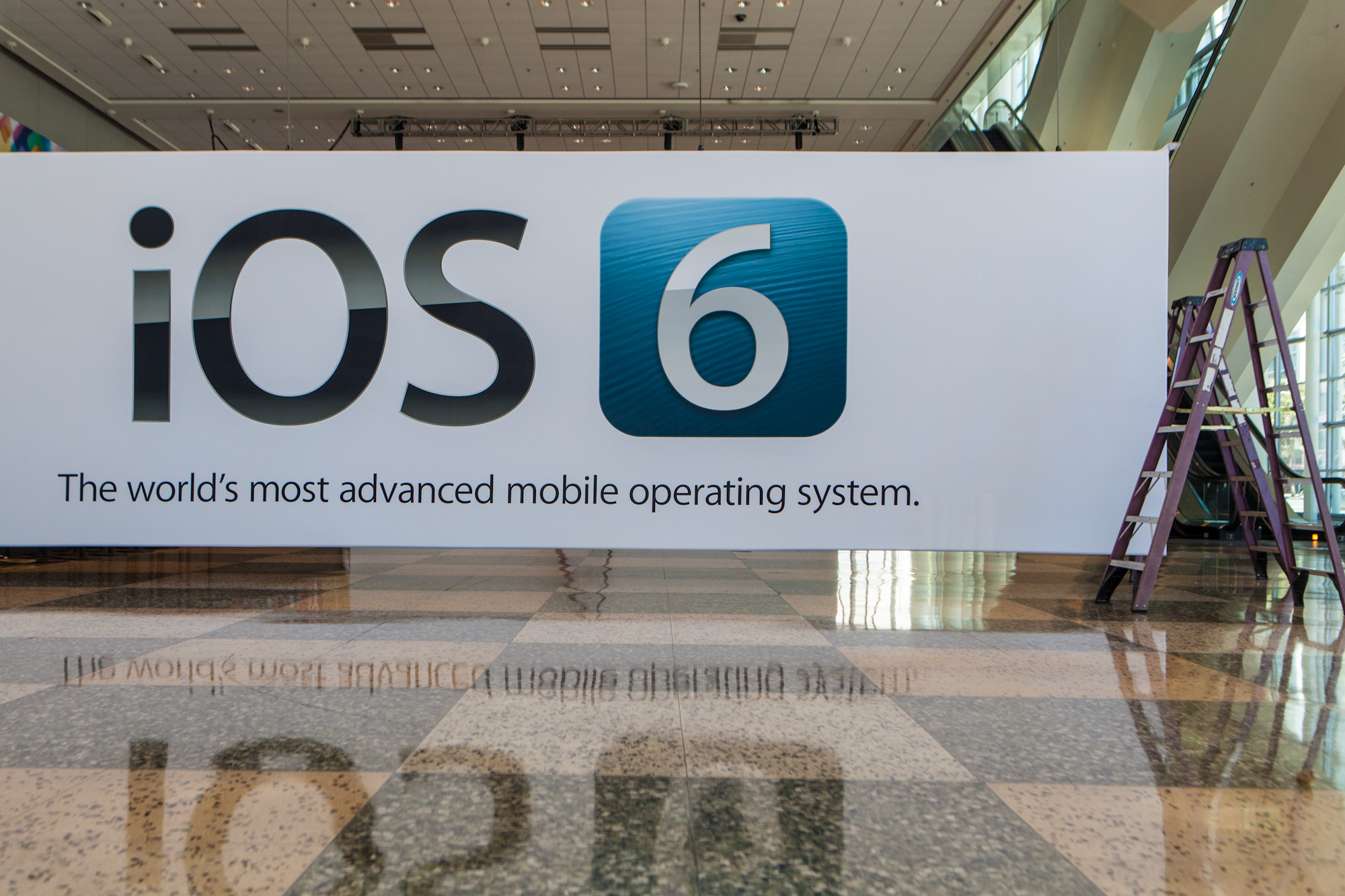 Banner do iOS 6 no Moscone Center - WWDC