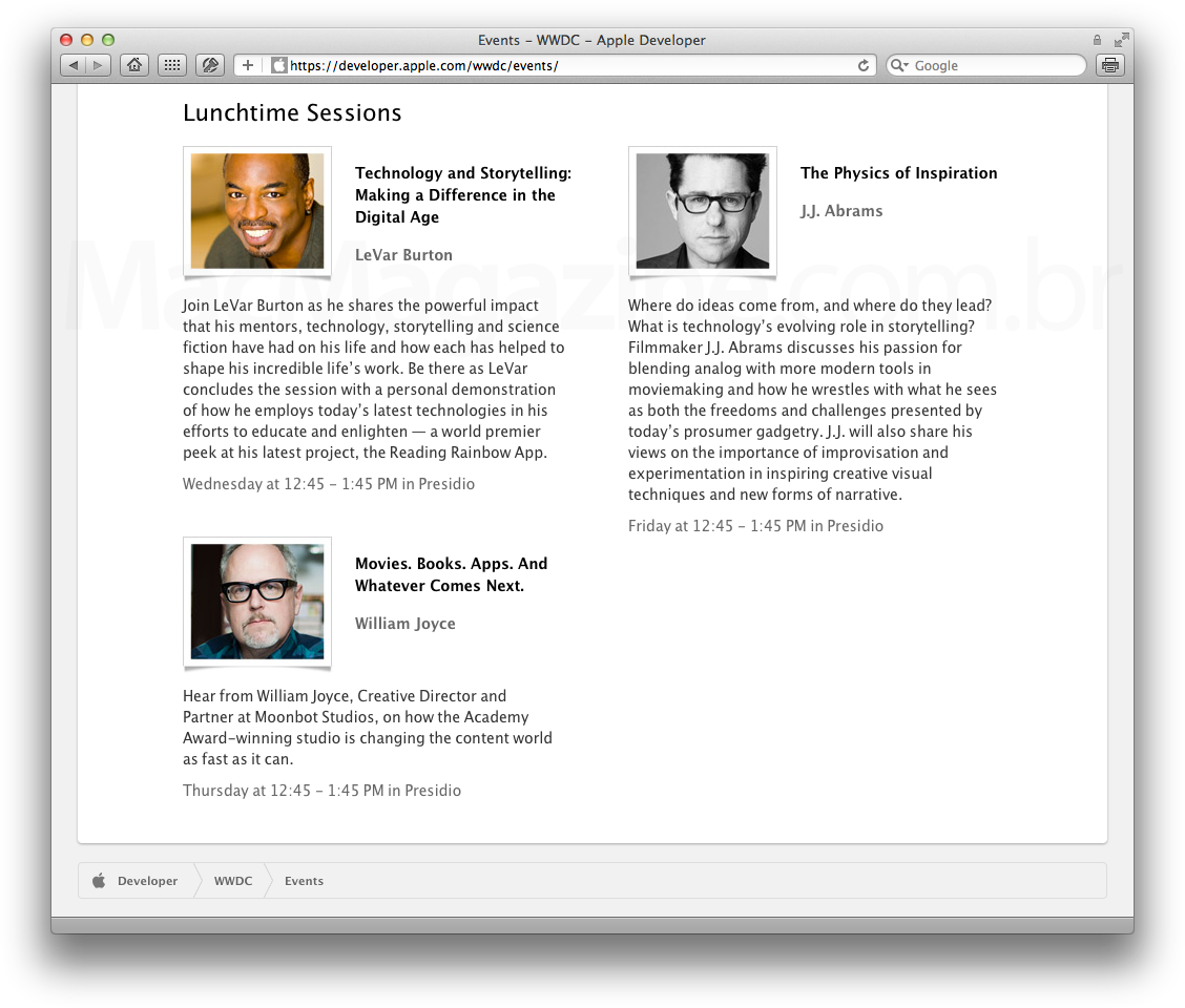 WWDC - Lunchtime Sessions