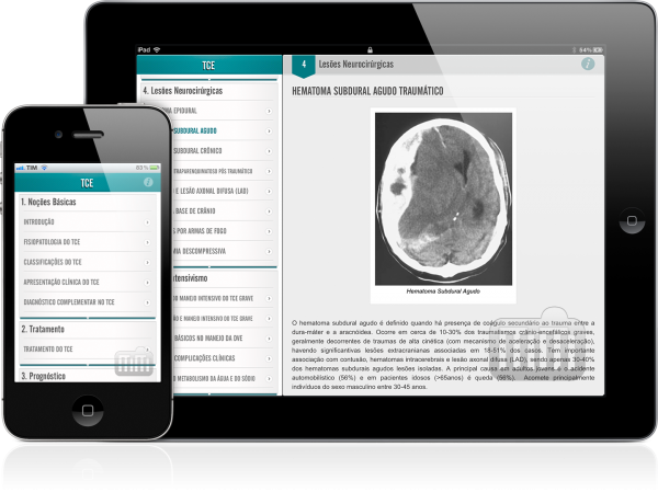 Traumatismo Crânio-Encefálico - iPad e iPhone