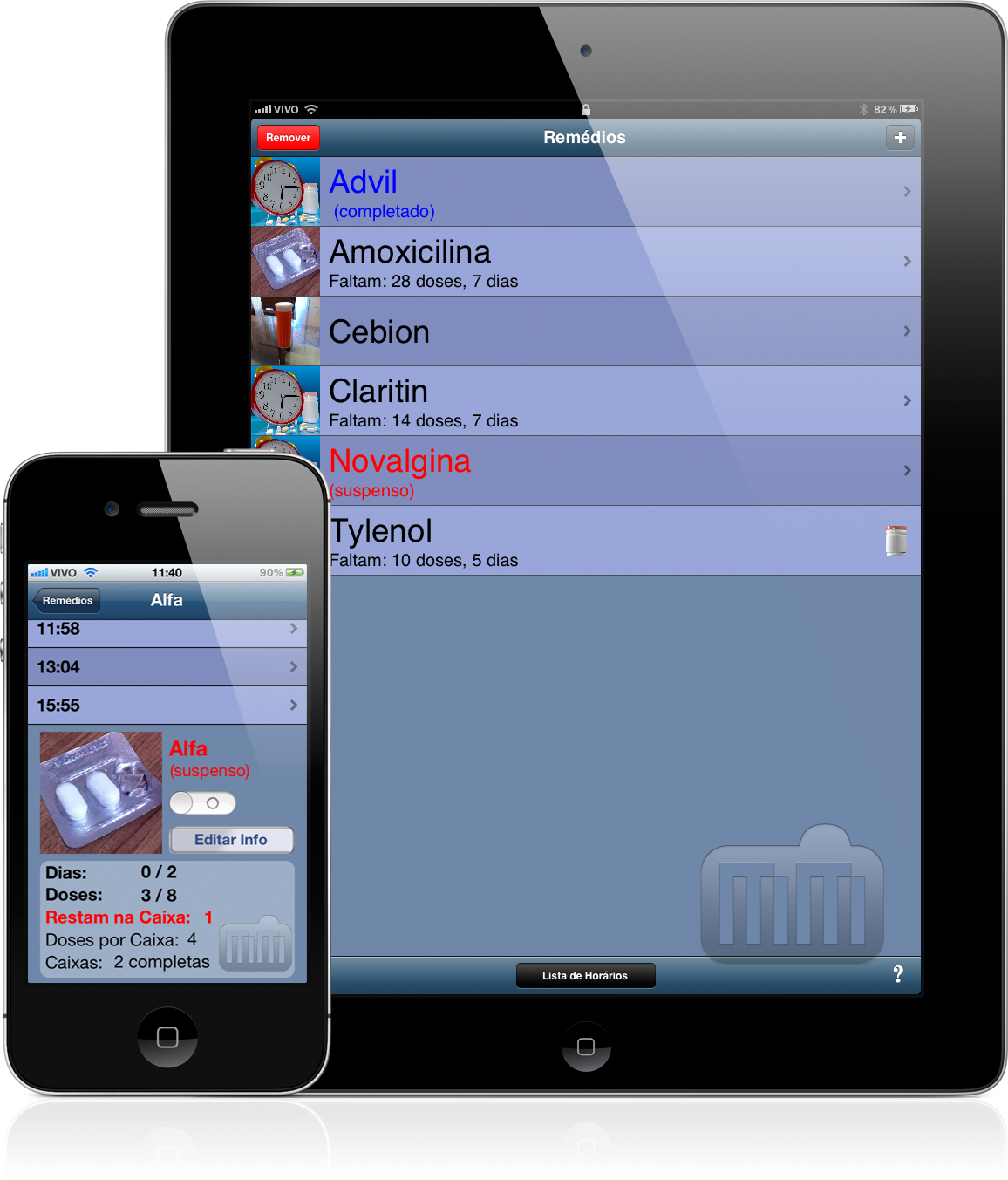 Hora do Remédio - iPad e iPhone