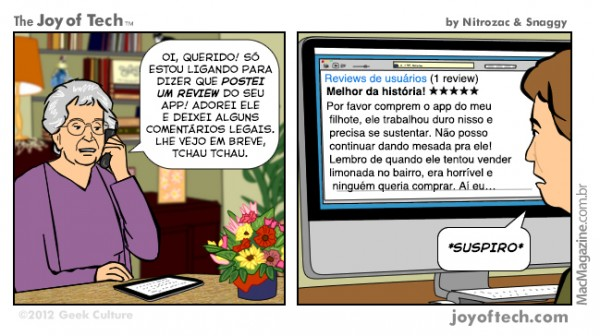 Joy of Tech - O pior pesadelo do desenvolvedor