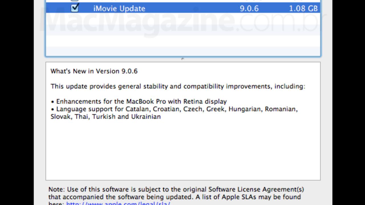 ↪ iMovie para OS X ganha atualização, tornando-se