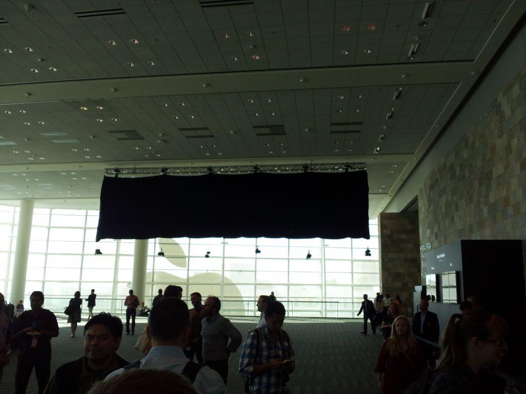 Banner coberto no Moscone - WWDC 2012