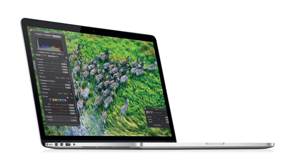 Novo MacBook Pro de 15 polegadas com tela Retina