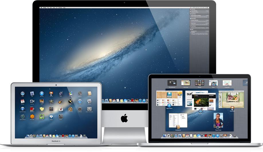 OS X Mountain Lion em iMac, MacBook Pro e MacBook Air
