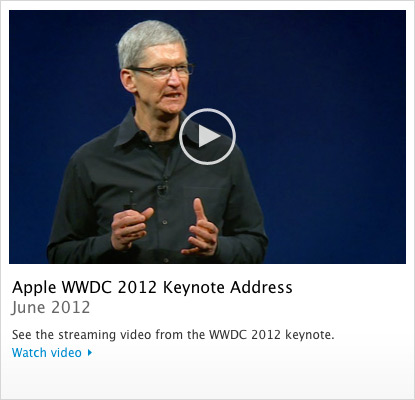 Vídeo da keynote - WWDC 2012