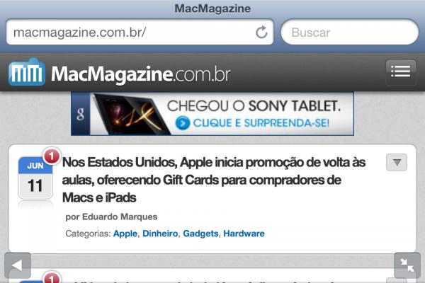 Screenshot do iOS 6 beta