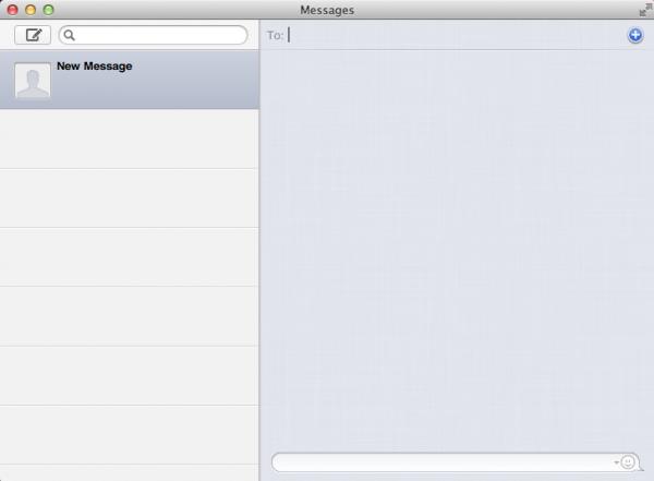 Messages em branco