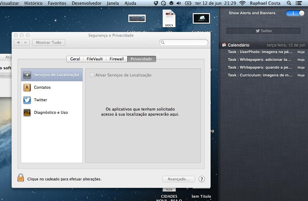 Screenshot do OS X Mountain Lion