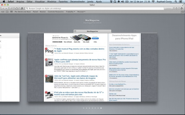 Screenshot do OS X Mountain Lion