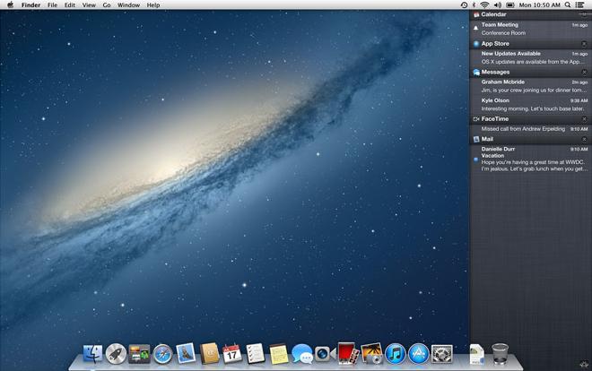 Central de Notificações do OS X Mountain Lion - Notification Center