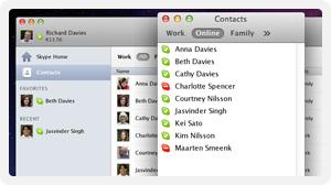 Janela de contatos compacta no Skype 5.8