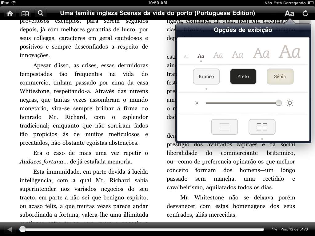 Kindle no iPad