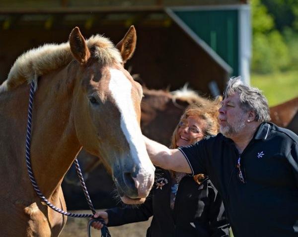 Steve Wozniak em uma fazenda de cavalos