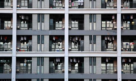 Dormitórios de uma fábrica da Foxconn