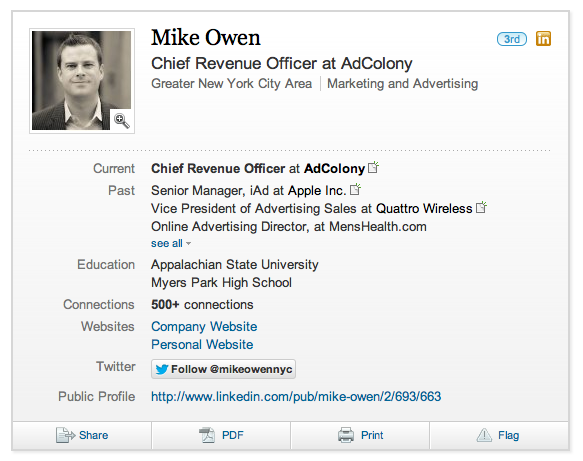 Mike Owen no LinkedIn
