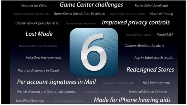 Mais novidades do iOS 6