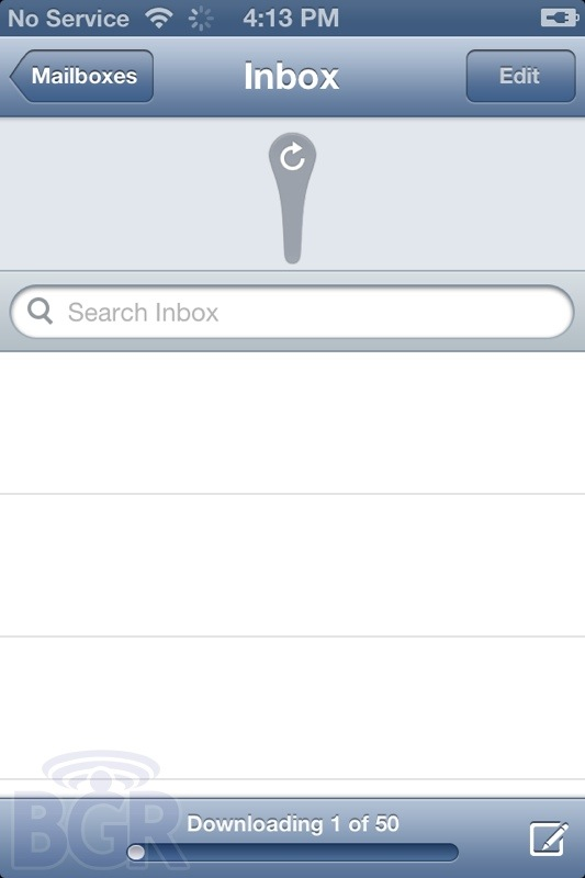 Screenshot do iOS 6 beta