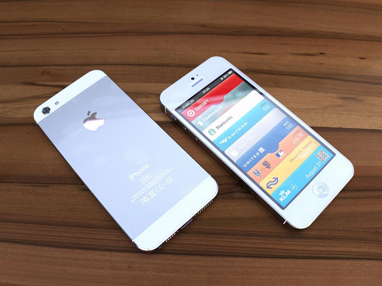 Render 3D de um novo iPhone branco - mockup