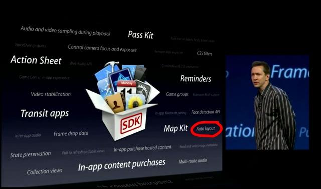 Auto layout - API do iOS SDK