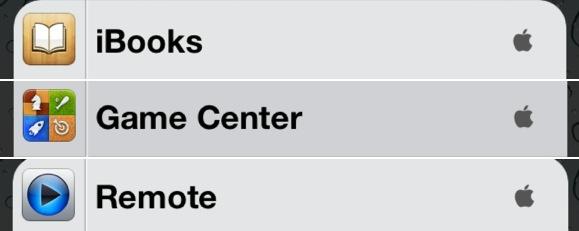 Logo da Apple em buscas de apps - iOS 6