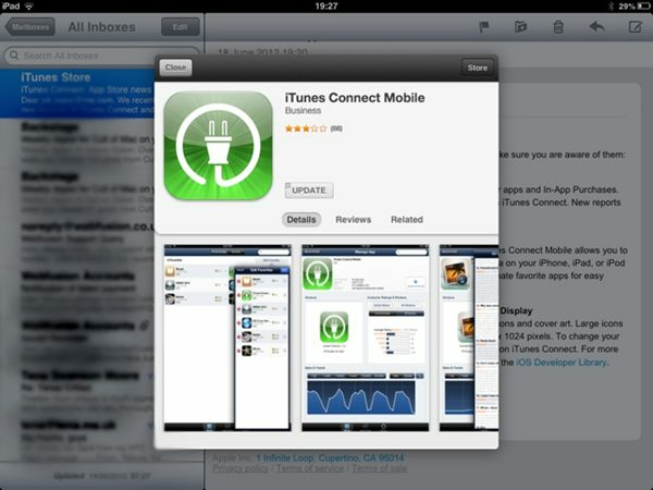 Preview de apps no Mail do iOS 6