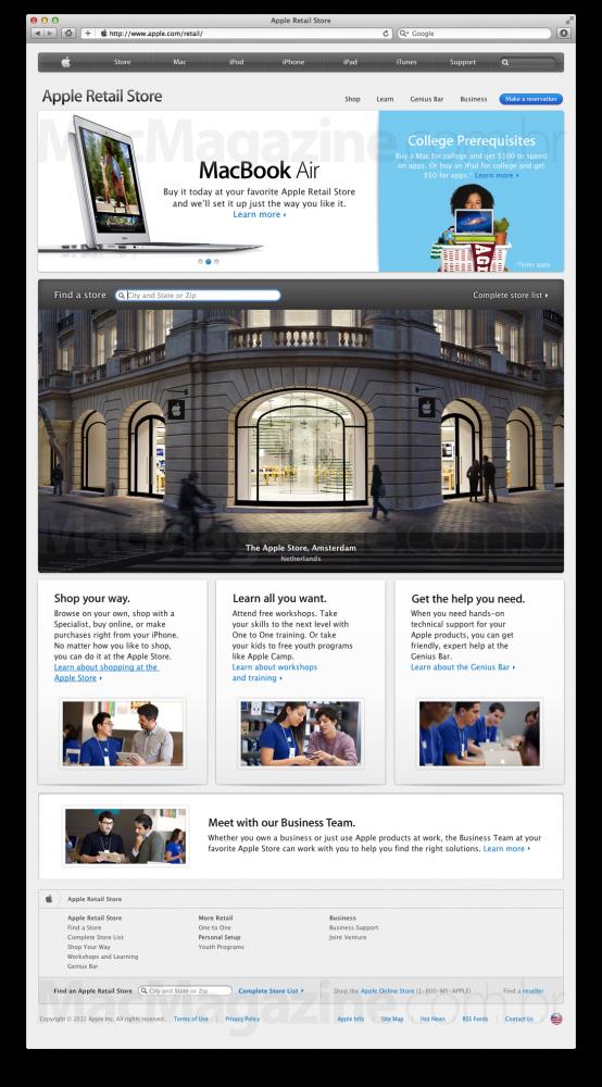 Nova página - Apple Retail Store