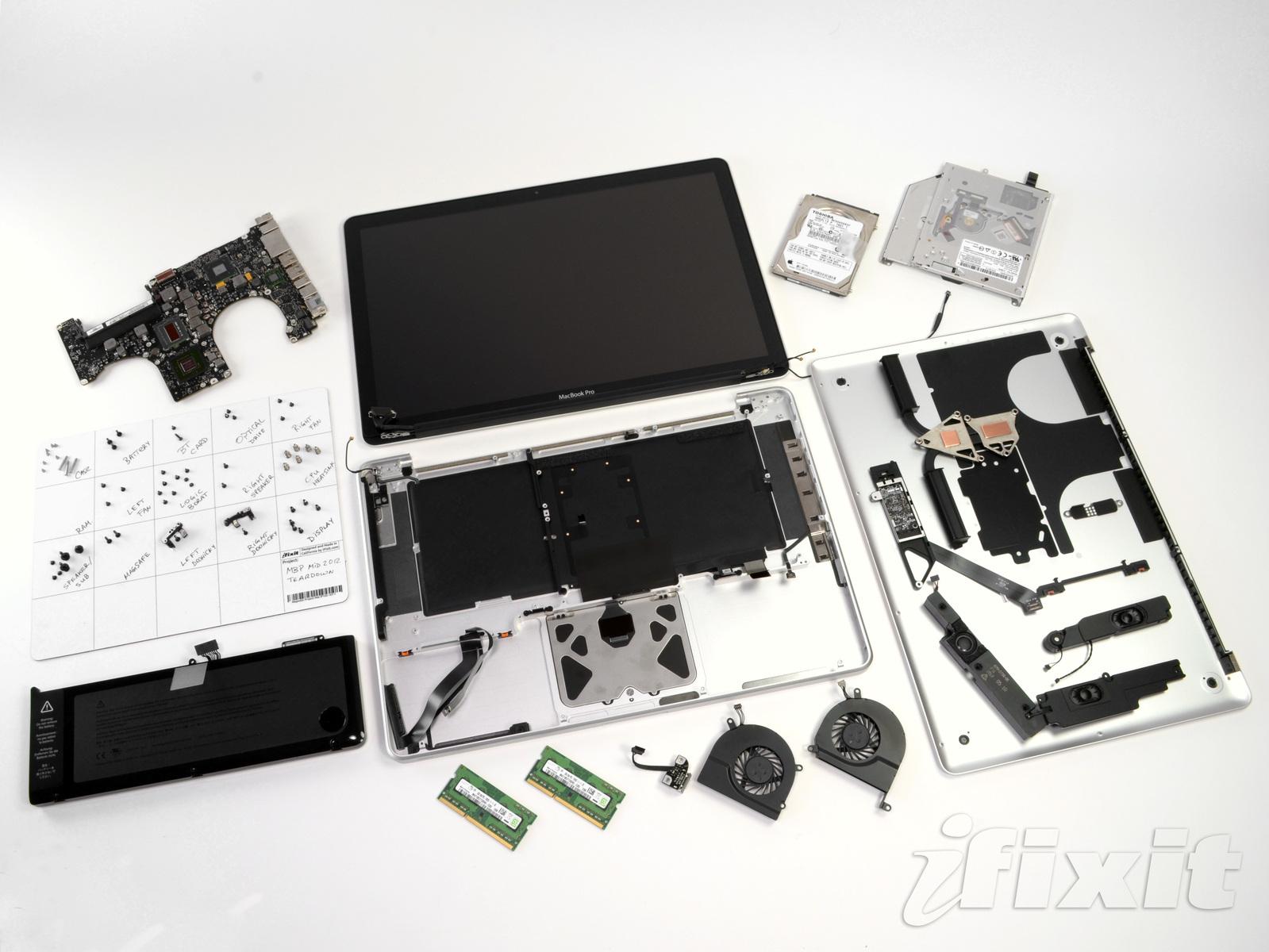 iFixit abre MacBook Pro sem tela Retina