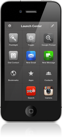 Launch Center Pro no iPhone - App Cubby