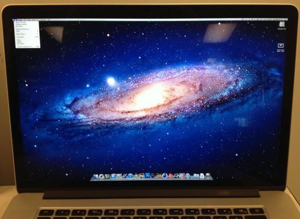 Tela Retina com pixels no MacBook Pro