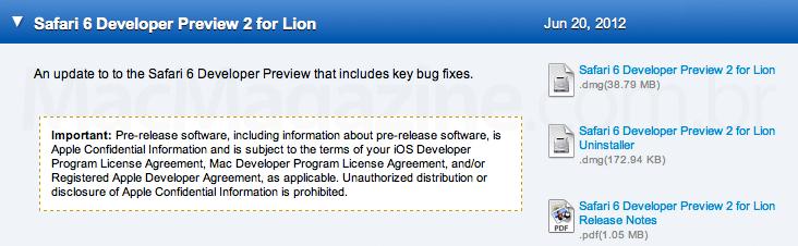 Safari 6 Developer Preview