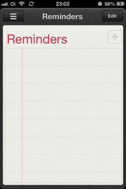 Reminders no iOS 6