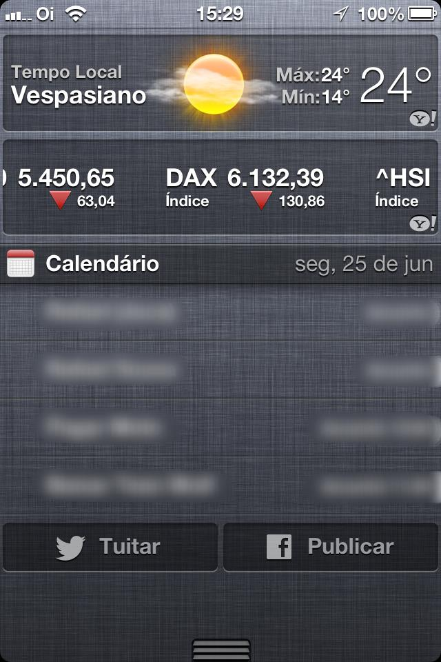 Twitter e Facebook no iOS 6 beta 2