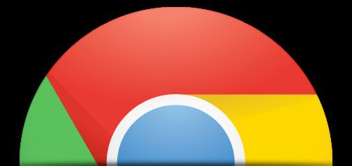 Ícone cortado do Google Chrome
