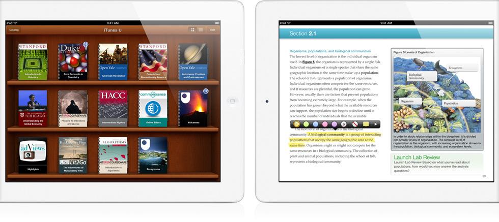 iPads rodando iTunes U