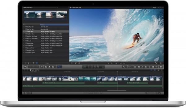 MacBook Pro com tela Retina de frente