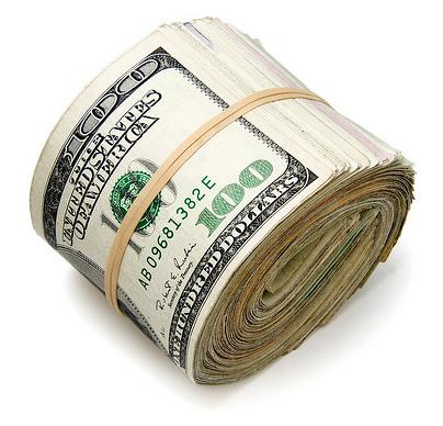 Bolo de dinheiro