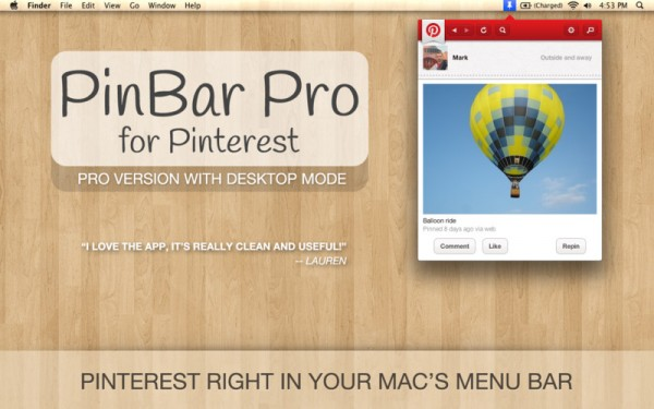 PinBar Pro for Pinterest